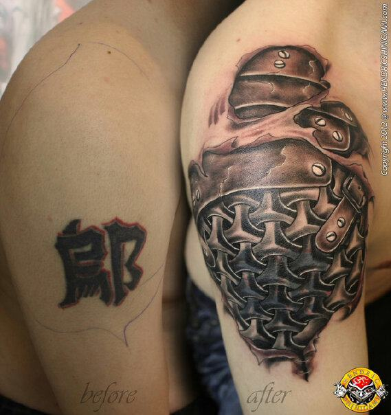 e32f5d9fd skin torn showing chain mail tattoo by bengkel168 on DeviantArt