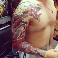 Red dragon sleeve by bengkel168