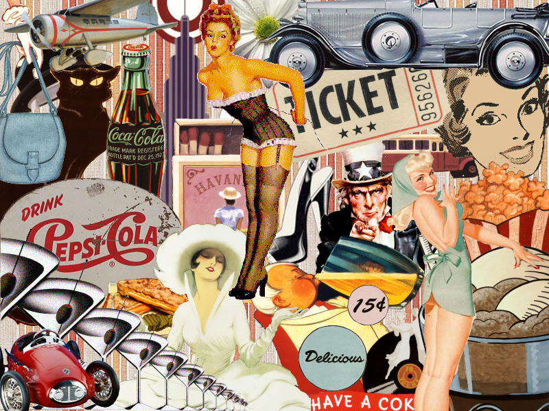 Collage - Vintage by thebaasch