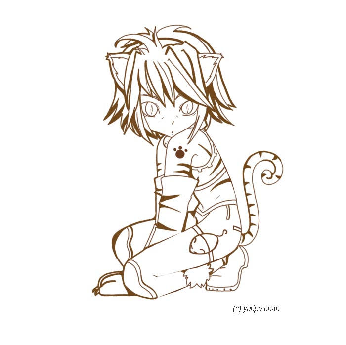 Anthro Cat Boy Anthro Cat Girl by Yuripa Chan