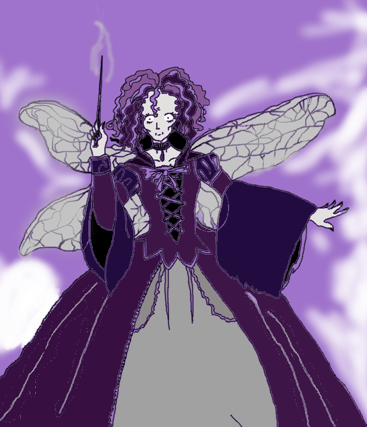 Evil Fairy Godmother (Finished colored version) by ProtectTheAlphaWolf on DeviantArt