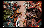 Double Page Marvel Vs Dc