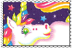 Lisa frank Unicorn stamp by Krazy8Horse