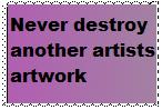 Don't Destroy artwork by Krazy8Horse