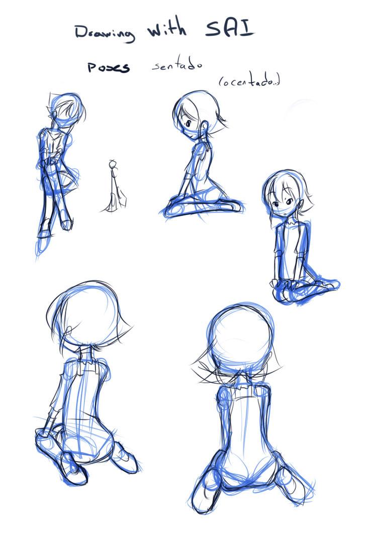 Drawing with SAI 17 sentado by drantyno