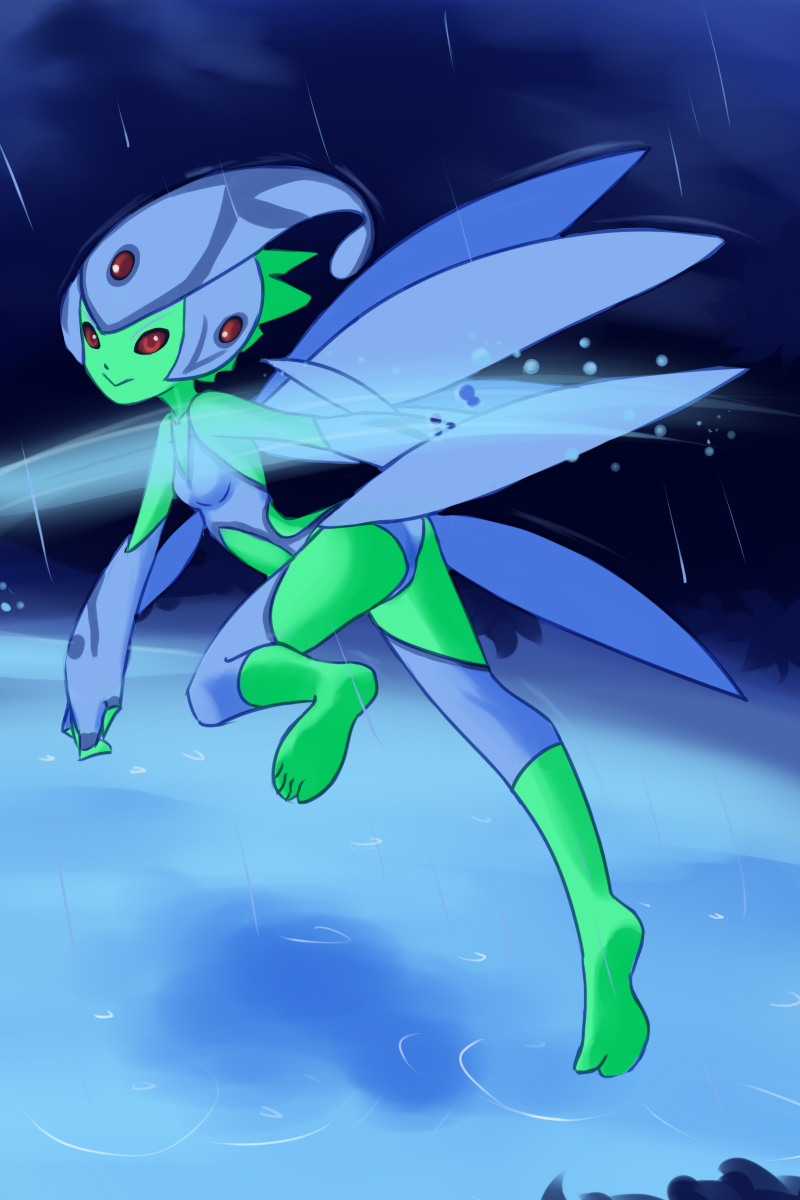 Fairy Digimon Ranamon by drantyno
