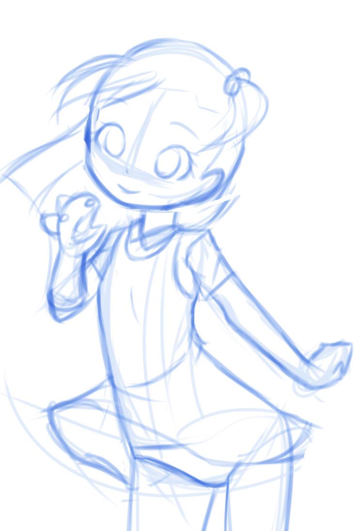 sketch: Juri-chan by drantyno