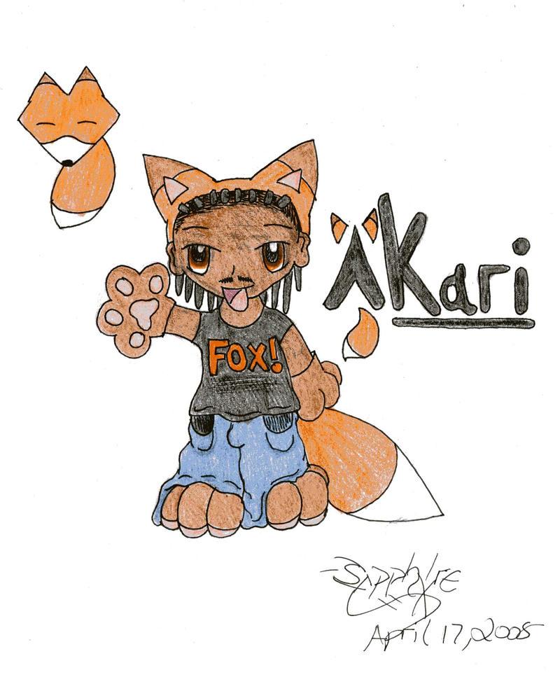 Akari the fox chibi by sapphire-blackrose