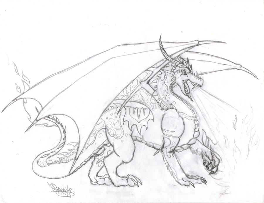Draco The Dragon Coloring Pages