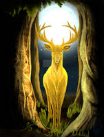 Cernunnos, The Golden King Stag by TheLadySapphira