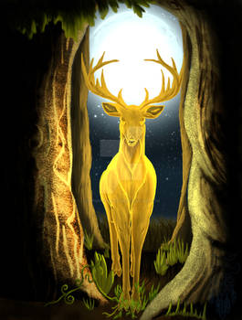 Cernunnos, The Golden King Stag