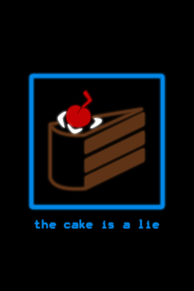 The Cake Is A Lie Iphone Wallpaper
