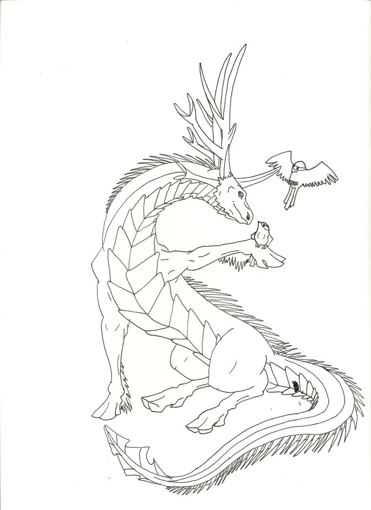 earth dragon lineart by embersflame on deviantart