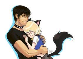 Commission-Sweet hug by Nicca11y