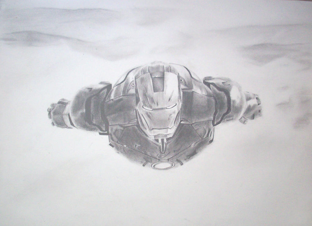 how to draw realistic iron man