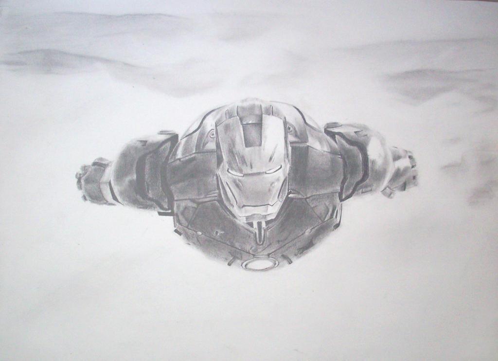 Iron Man Drawing by dudeman1990 on DeviantArt Iron Man Pencil Drawings