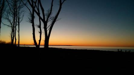 Baltic winter sunset