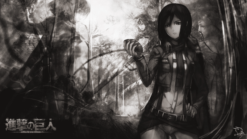 Wallpaper Mikasa Ackerman By Igor Designer By Igorbmaciel On Deviantart