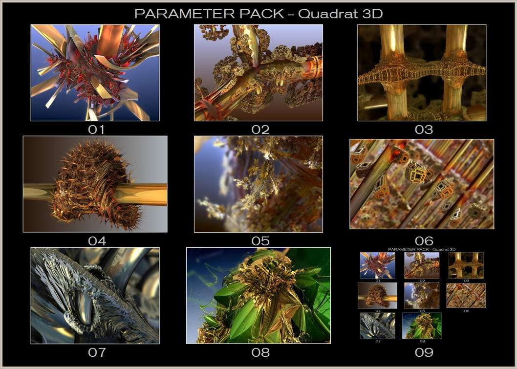 Rarely used Formulas 01 - Quadrat3D Params by gannjondal