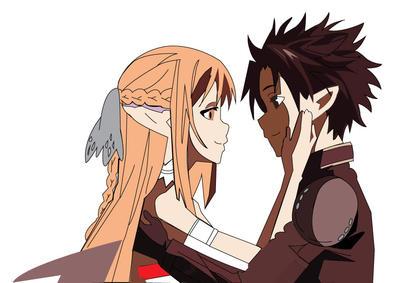 Sword Art Online Asuna and Kirito by vampirebites18