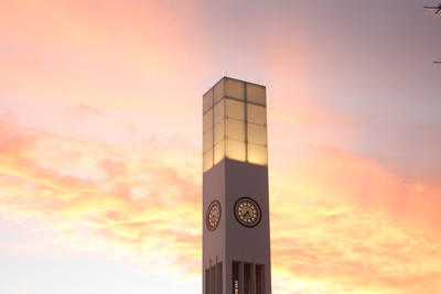 Palmerston North's Sunset Clock Tower NZ 28.3.17 by vampirebites18