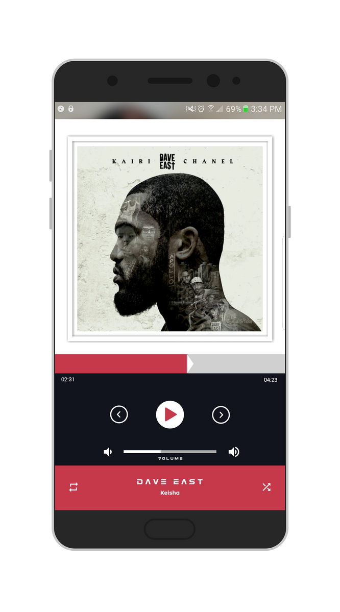 android music player how to change album art