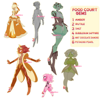 Food Court Gem ADOPTS (1/6 OPEN) by Blissful-Rouzes