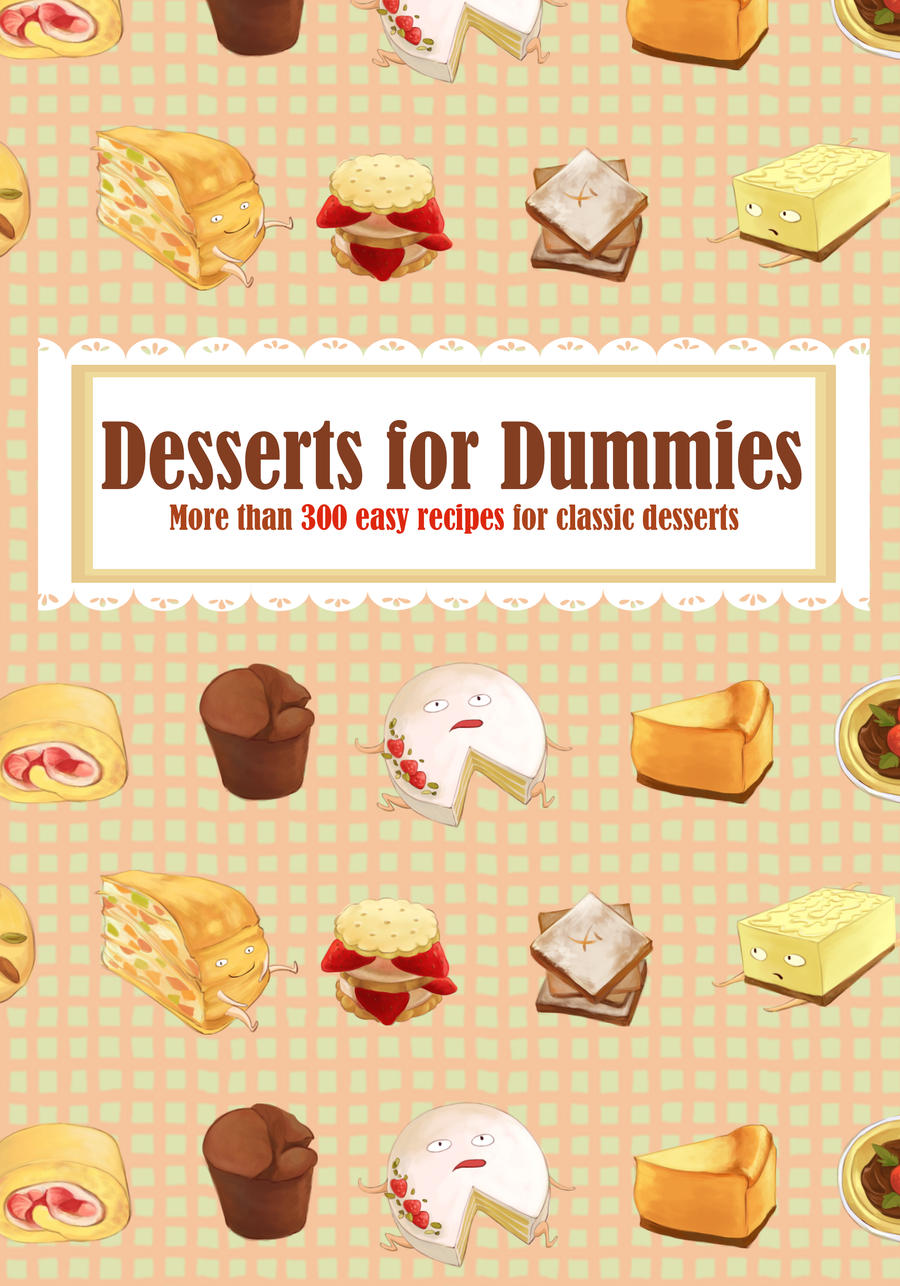 Illustrated Book Cover Questions : Illustrated recipe book cover by kiddhe on deviantart
