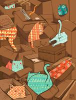 Cats Heaven by kiddhe