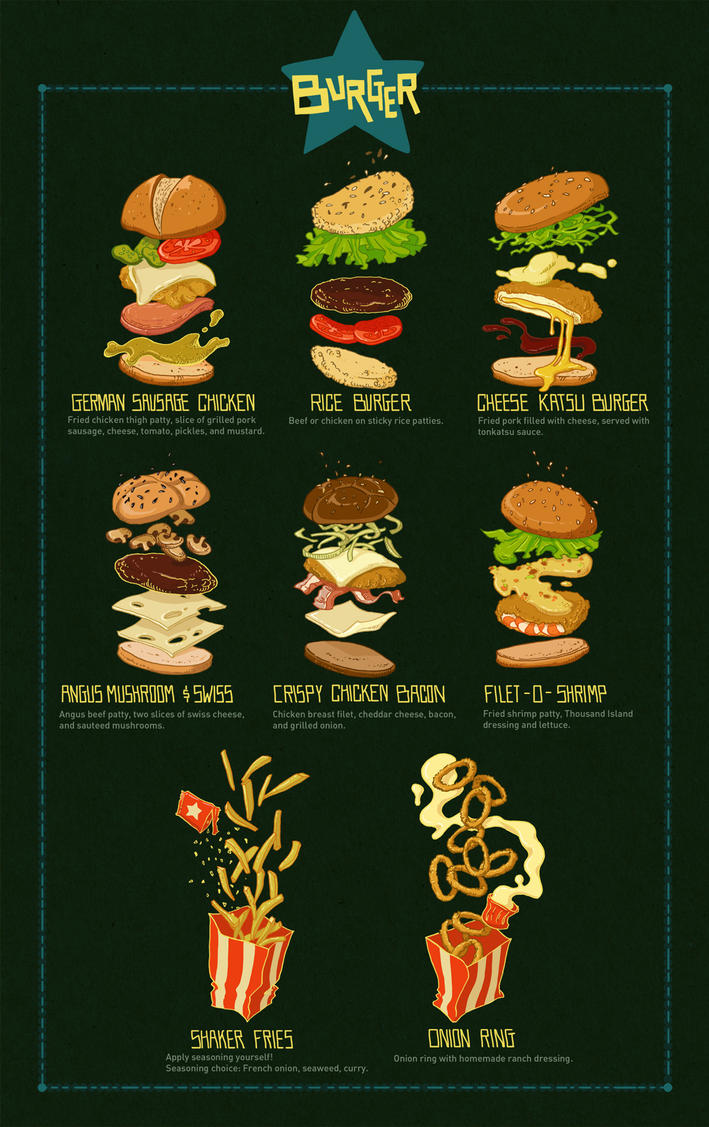 Burger menu by kiddhe