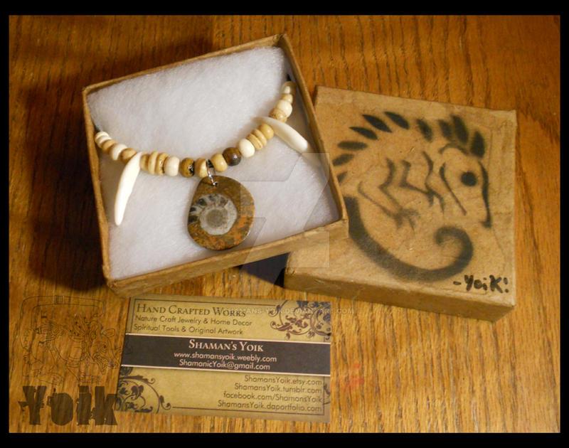 Packaging - Ammonite Choker by Shamans-Yoik