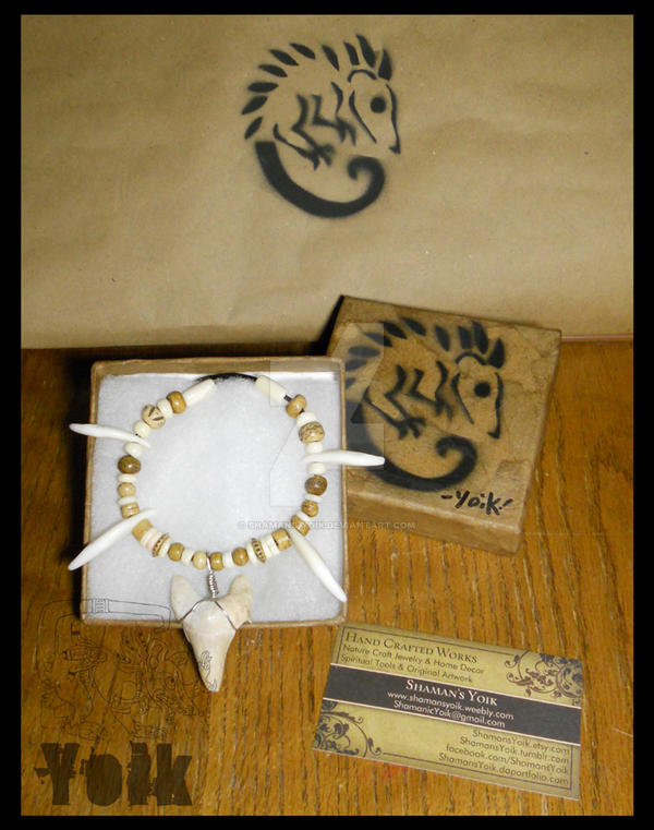 Packaging - Shark Tooth Chief Choker by Shamans-Yoik