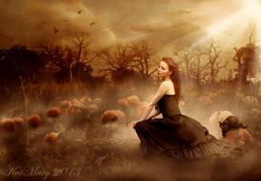 Autumn at dusk by katmary