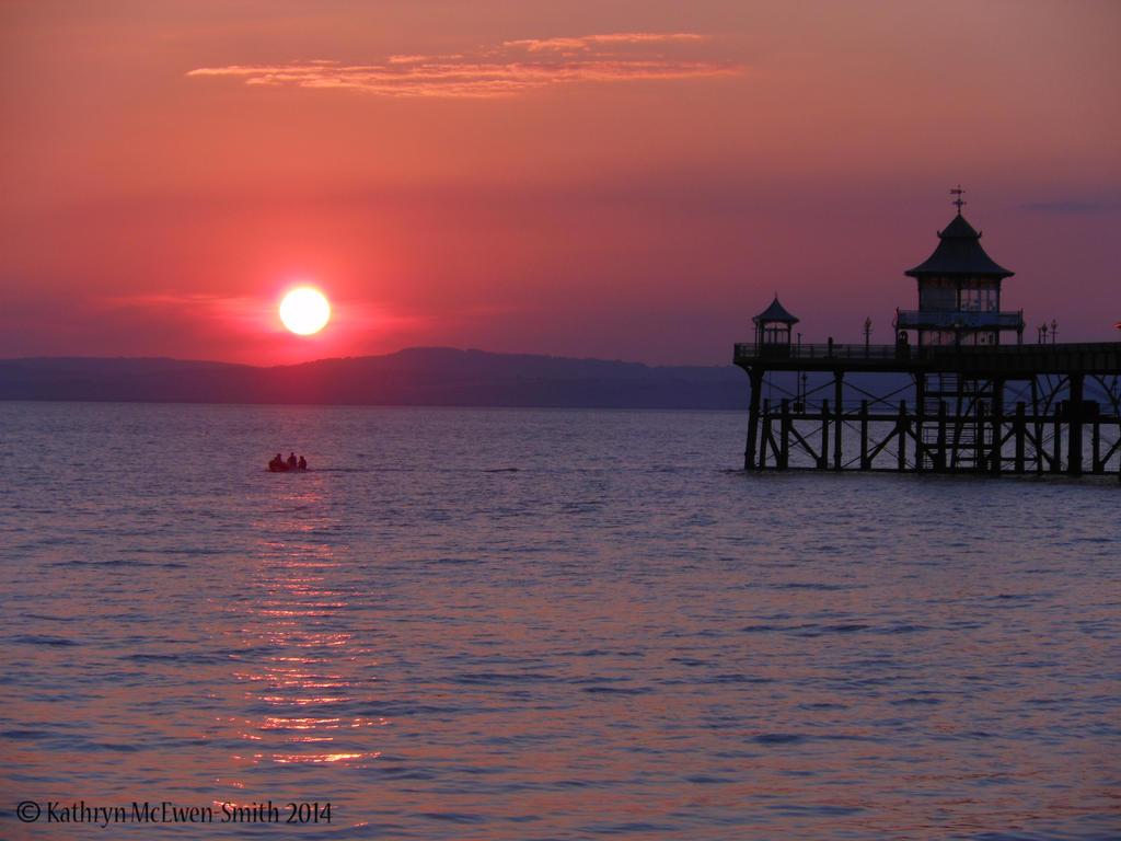 Clevedon pier,sunset, July 2014 by katmary
