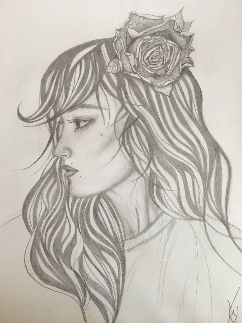 Rose In Her Hair By Katmary On Deviantart
