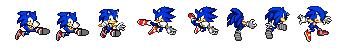 Sonic brawl back kicking move (sprites) by RamontheHedgehogXA