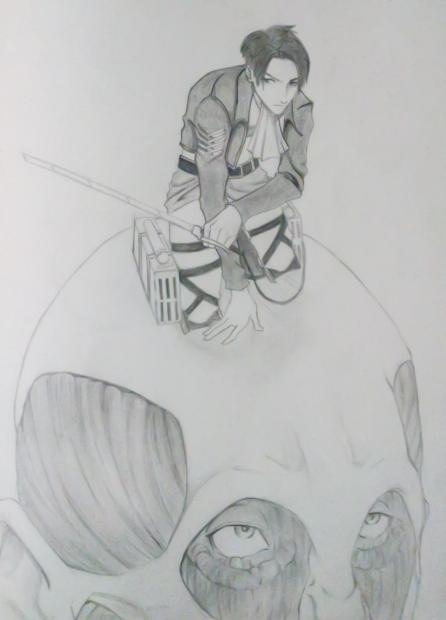 Rivaille - Shingeki no kyojin (sketch) by aizenkempachi
