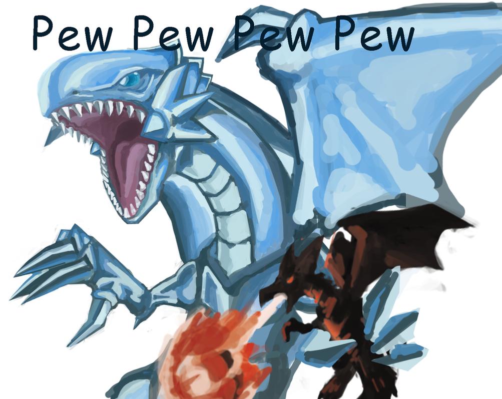 blue-eyes randomness dragon + Red-eyes mini Dragon by raseru09