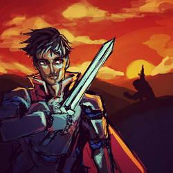 Sunset Knight by raseru09