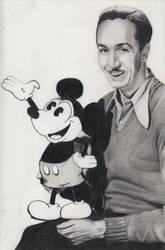 Walt Disney with Mickey Mouse by Maria18Borodina