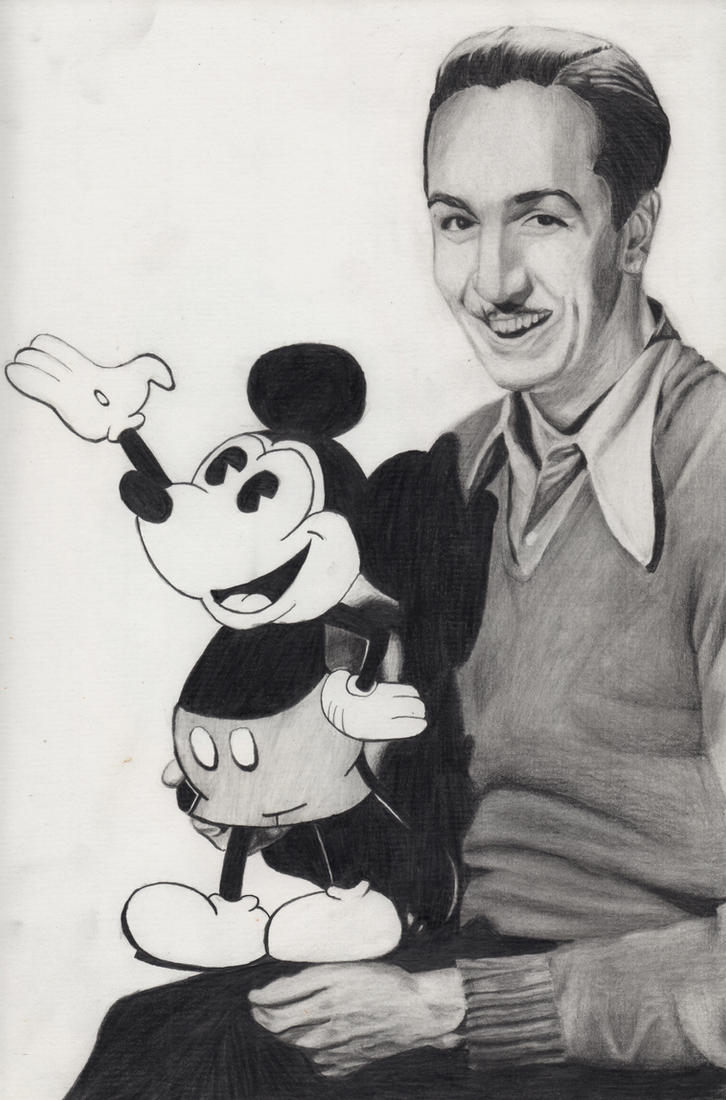 Walt Disney with Mickey Mouse by Maria18Borodina on DeviantArt