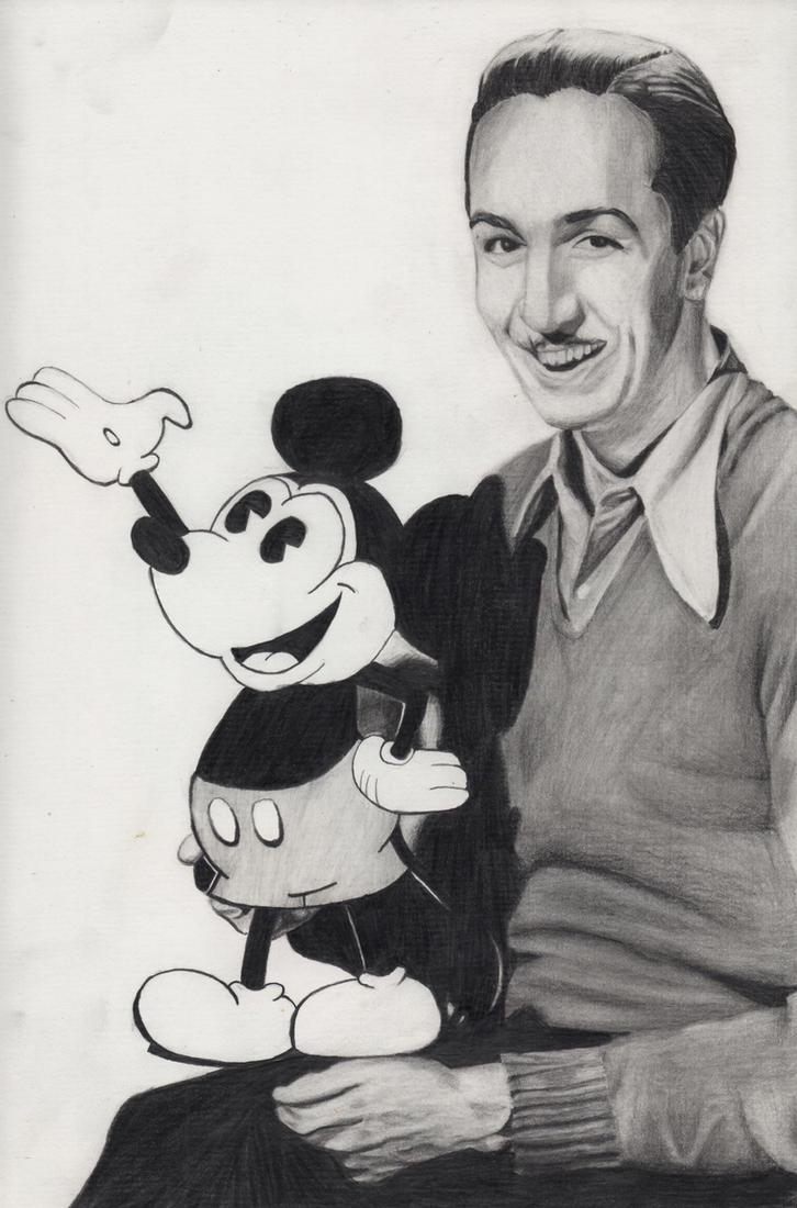 Walt Disney with Mickey Mouse by Maria18Borodina on DeviantArt