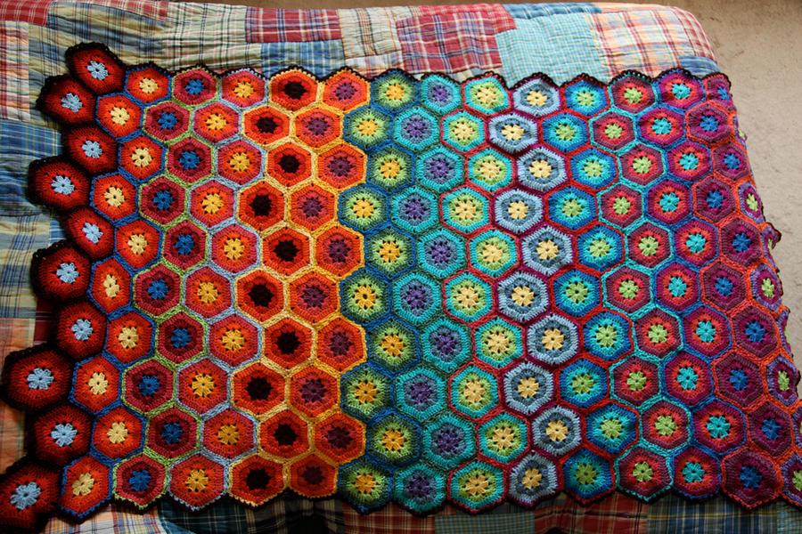 Crocheted Blanket by effunia