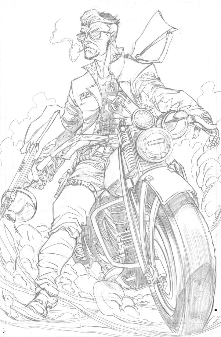 Rockabilly Punisher Pencil by FireClerk12