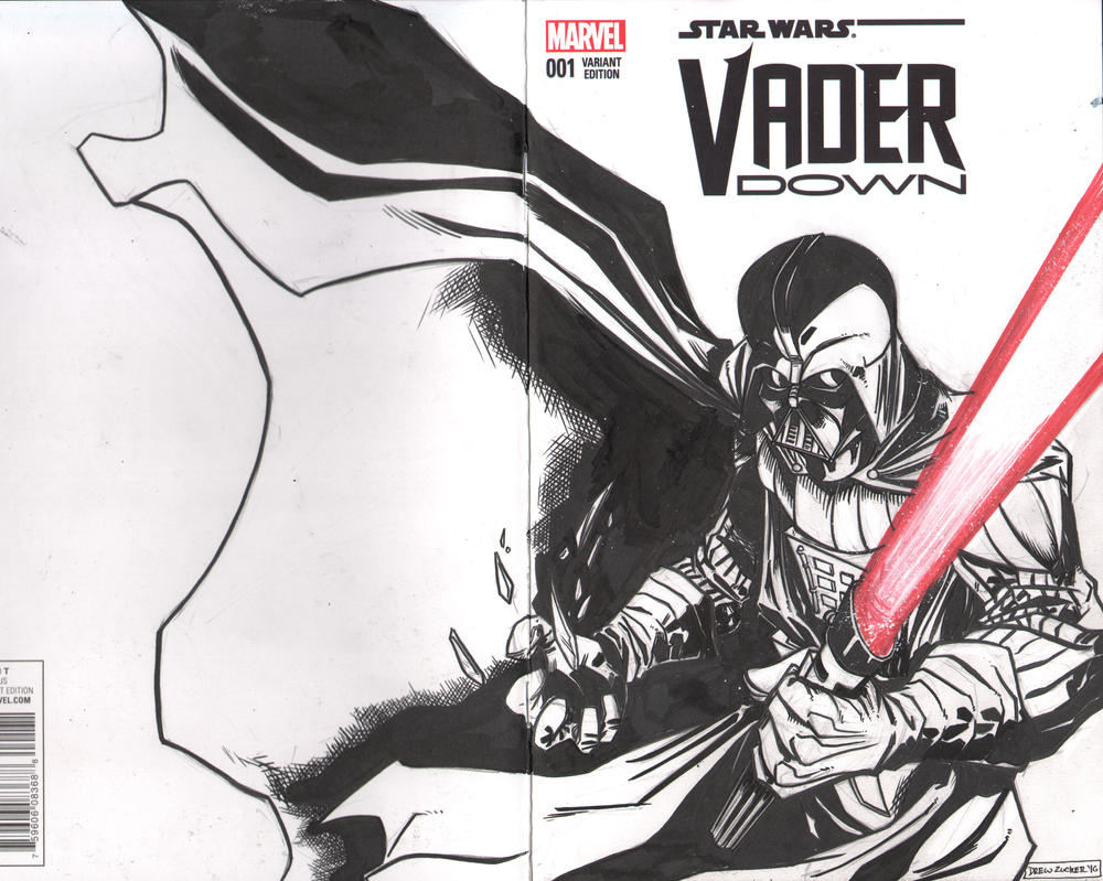 Darth Vader Sketch cover Vader Down #1 by FireClerk12