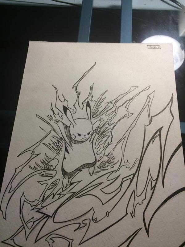 9x12 Pikachu commission by FireClerk12