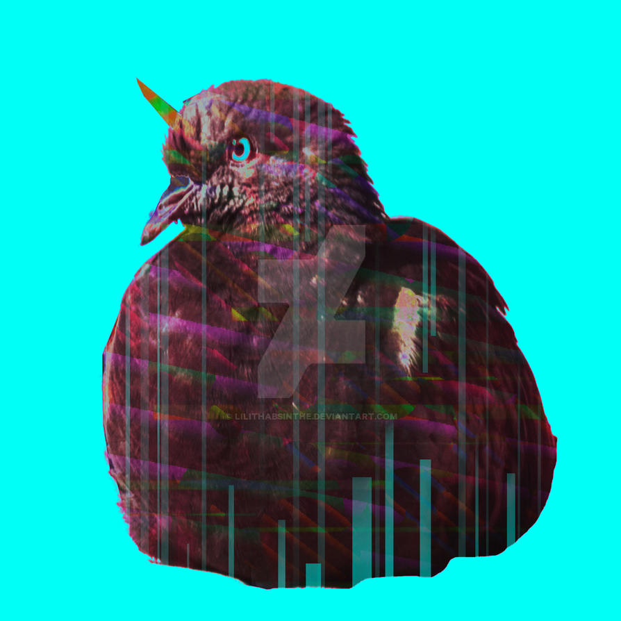 Disco pigeon unicorn by LilithAbsinthe