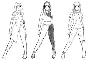 Costume Concepts for Persona by In-saneJoker