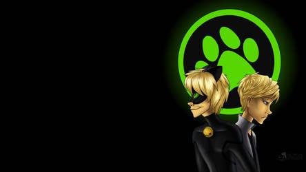 Cat Noir Desktop Background by In-saneJoker