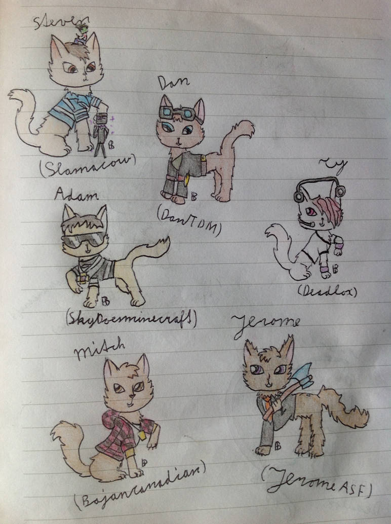 1013d86d2 Minecraft Youtuber cat's by Eve-aCatty on DeviantArt